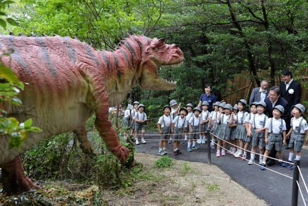 Crianças se divertem em no parque em Nagoya. Foto: Chunichi