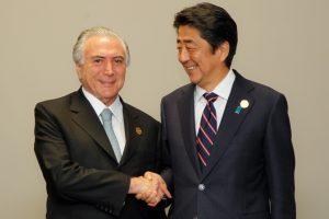 G20杭州サミット時に最初の首脳会談をしたテメル大統領と安倍総理(Foto: Beto Barata/PR)